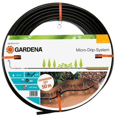 GARDENA Тръба за капково напояване под и над земята 13,7 мм + съединител и накрайник